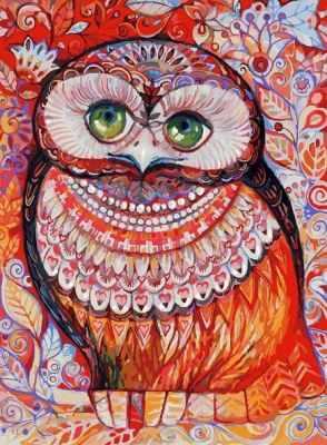 Набор для рисования по номерам Белоснежка 3074-CS Медовая сова - раскраска (Белоснежка)