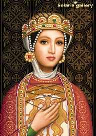 8112-62 Medieval Princess  Desislava  бумажная схема - Наборы для вышивания «Solaria gallery»