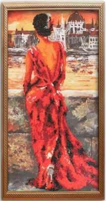 10010 Девушка в вечернем платье - Мозаика «Color Kit»