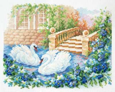 Фото - Набор для вышивания Чудесная игла 64-07 Лебединая верность чудесная игла набор для вышивания лебединая пара 30 х 21 см 64 01