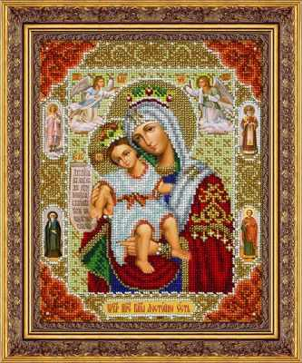 Набор для вышивания иконы Паутинка Б1061 Пр. Богородица Достойно есть (Паутинка)