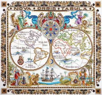Фото - Набор для вышивания Марья искусница 11.005.03 Карта мира набор для вышивания марья искусница 02 006 02 ла
