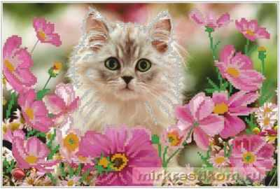 Фото - Набор для вышивания Искусница ББ508 Кот в цветах кот в цветах