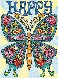 91496-73 DMS  Узорчатая бабочка   раскраска - Картины по номерам «Dimensions»