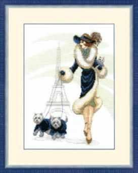 Фото - Набор для вышивания Чарiвна Мить ВТ-066 Прогулка в Париже набор для вышивания чарiвна мить вт 093 солнечные одуванчики