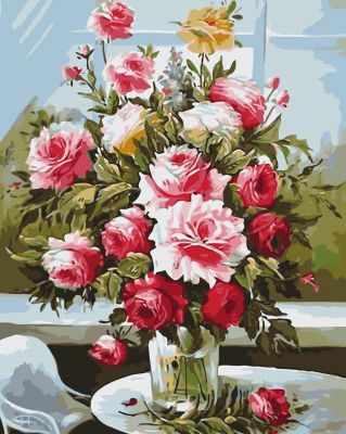 Купить со скидкой B021 Букет из садовых роз