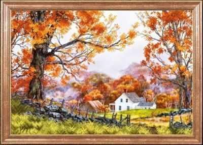 КС-083 Деревенская осень  Магия канвы - Рисунки на ткани «Магия канвы»