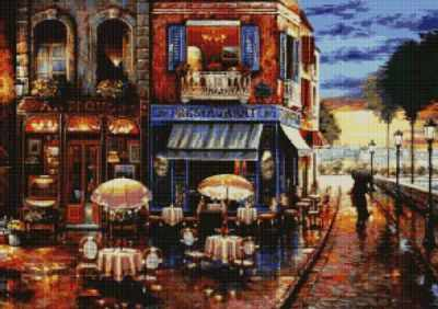 50027 Ресторан на углу -мозаика Anya - Мозаика «Anya»