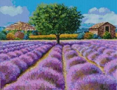 50036 Лавандовое поле -мозаика Anya - Мозаика «Anya»