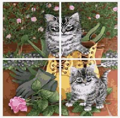 Набор для раскрашивания по номерам Menglei MMM4013 Кот в сапоге - раскраска (Menglei)
