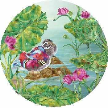 В1137  рисунок на атласе (Alisena) - Атлас с рисунком «Alisena»