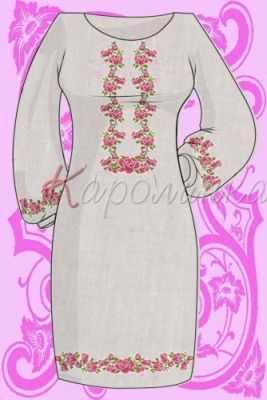 Заготовка для вышиванки Каролинка КБС/пл/-03 Заготовка для вышивки платья (Каролинка)