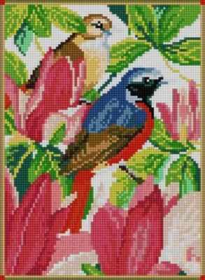 Мозаичная картина Anya Алмазная вышивка 50082 Птицы в саду - мозаика Anya стилус