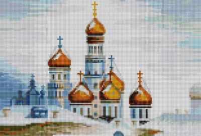 50065 Вид на храм  мозаика Anya - Мозаика «Anya»