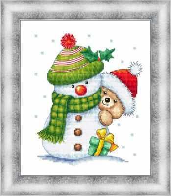 Набор для вышивания Сделано с любовью МК-029 (Снеговик)