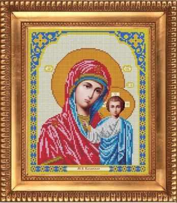 И-4002 Казанская Божия Матерь - рисунок на ткани