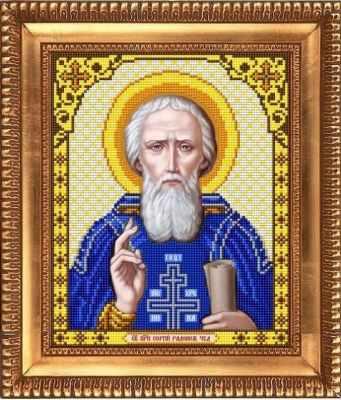 И-4121  Св.Преподобный Сергий Радонежский - рисунок на ткани