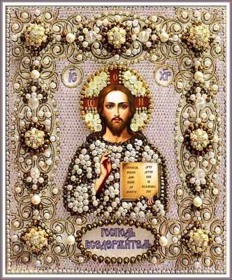 Набор для вышивания иконы Образа в каменьях 77-В-02 Господь Вседержитель