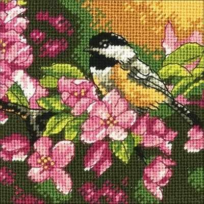 Набор для вышивания Dimensions 7244-71-DMS Пташка в розовом ранняя пташка