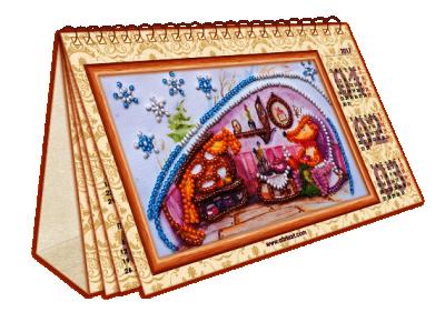 Набор для вышивания Абрис Арт AK-006 «Календарь. Лисы»