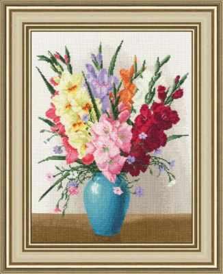 Набор для вышивания Золотое Руно ЛЦ-067 Букет гладиолусов набор для вышивания крестом rto букет хризантем 50 х 40 см