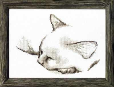 Фото - Набор для вышивания Чарiвна Мить ВТ-071 Спящий котик набор для вышивания чарiвна мить вт 093 солнечные одуванчики