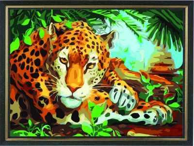 AM024 Хранитель джунглей - Раскраски по номерам «Color Kit»