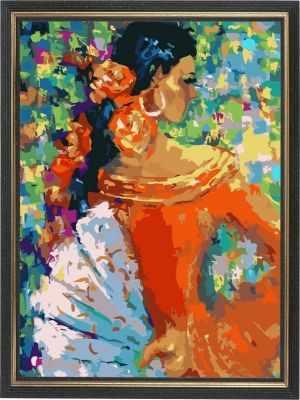 AM018 Фламенко - Раскраски по номерам «Color Kit»