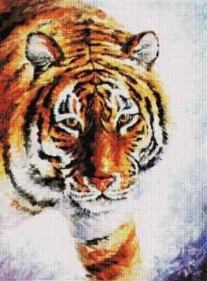 Алмазная мозаика Белоснежка Алмазная вышивка 156-ST Тигр на снегу (Белоснежка) белоснежка алмазная мозаика белоснежка волк 40х30 см