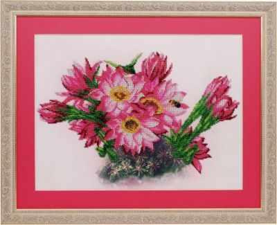 Набор для вышивания Ажур Б-0002 Цветущий кактус
