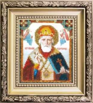 БЮ-008  Икона Святителя Николая Чудотворца   чм - Наборы для вышивания икон «Чарiвна Мить»