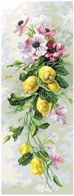 1819 Лимонный вальс - рисунок на канве (МП)