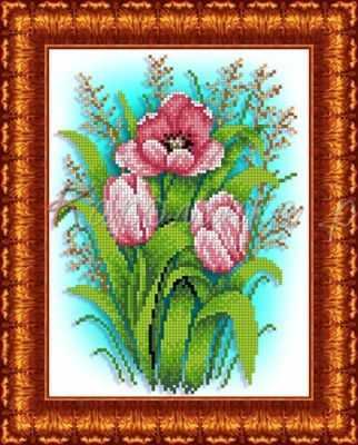 КБЦ 4025 Тюльпаны - схема (Каролинка)