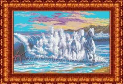 Основа для вышивания с нанесённым рисунком Каролинка КБП 1001 Бегущая волна - схема для вышивания (Каролинка)