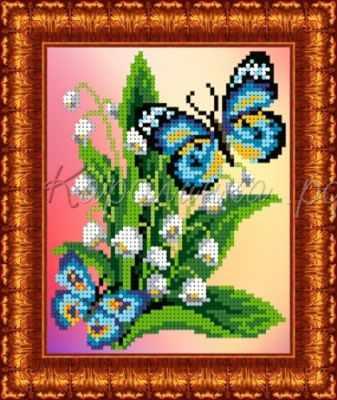 КББ 5003 Бабочки на ландышах - схема (Каролинка)