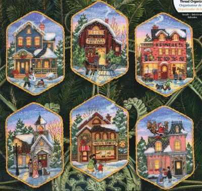 8785-DMS Christmas Village Ornaments
