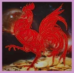 Набор для вышивания Картины бисером Р-273 Символ года петуха - набор для вышивания
