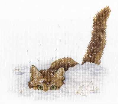 Фото - Набор для вышивания МП Студия НВ-557 Кот в снегу кот в снегу
