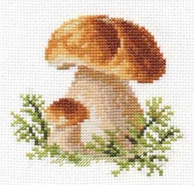 Набор для вышивания Алиса 0-144 Белые грибы