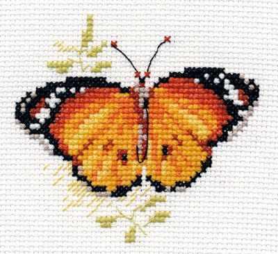 Набор для вышивания Алиса 0-148 Яркие бабочки. Оранжевая