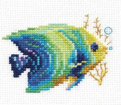 Набор для вышивания Алиса 0-150 Тропические рыбки. Изумрудная