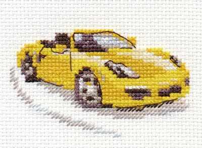 0-156 Желтый спорткар