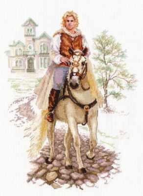 Набор для вышивания Алиса 4-17 Юноша на белом коне