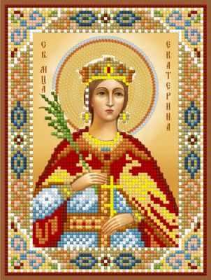 1Нбис-042 Св. Мч. Екатерина  набор - Наборы для вышивания икон «Художественные мастерские»