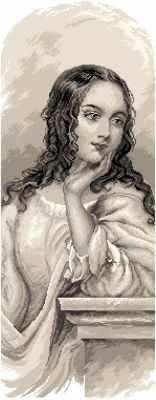 1827 Джульетта  рисунок на канве (МП) - Рисунок на ткани «Матрёнин посад» (канва с рисунком)
