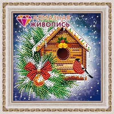 Алмазная мозаика Алмазная живопись Алмазная вышивка Снегирь (АЖ-3015) - картина стразами алмазная мозаика тм цветной радужные еноты 30x40 см