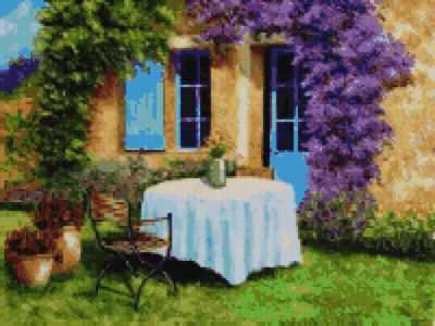 Мозаичная картина Anya Алмазная вышивка 50148 Уютный дворик - мозаика Anya