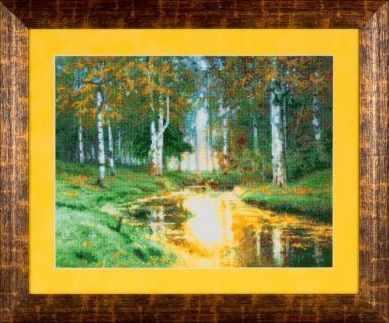 Набор для вышивания Ажур 0017 Золотая осень. Тихая речка