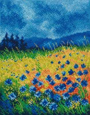 Набор для вышивания РТО M625 Синие, как небо васильки