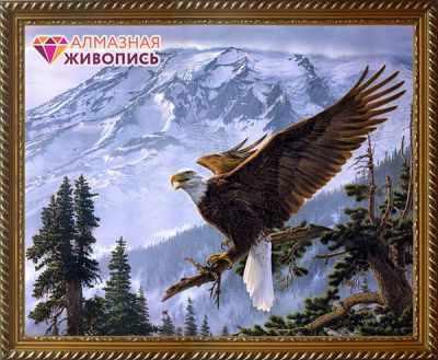 Алмазная мозаика Алмазная живопись Алмазная вышивка Орел (АЖ-1411) - картина стразами